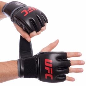 Перчатки для смешанных единоборств MMA PU UFC Contender UHK-69088 черные, 5 oz