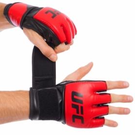 Перчатки для смешанных единоборств MMA PU UFC Contender UHK-69108 красные, 5 oz
