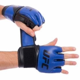 Перчатки для смешанных единоборств MMA PU UFC Contender UHK-69141 синие, 5 oz