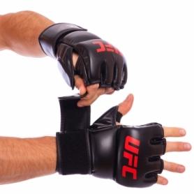 Перчатки для смешанных единоборств MMA PU UFC Contender UHK-69153 черные, 7 oz