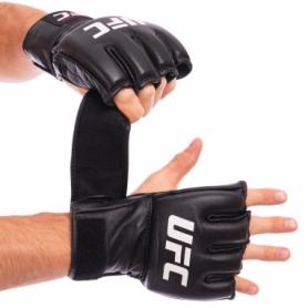 Перчатки для смешанных единоборств MMA кожаные UFC Pro UHK-69908 черные