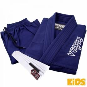 Кимоно детское для бразильского джиу-джитсу Venum Contender 2.0 синее (FP-7074-1)