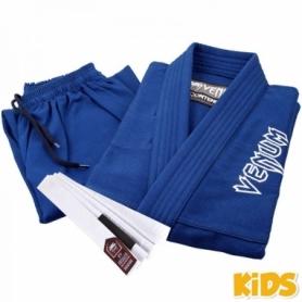 Кимоно детское для бразильского джиу-джитсу Venum Contender 2.0 голубое (FP-7077-1)