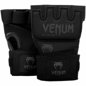 Бинт-перчатки гелевые Venum Kontact Gel Glowe Wraps, черные