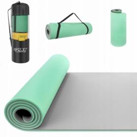 Коврик для йоги (йога-мат) 4FIZJO TPE 4FJ0202, мятный