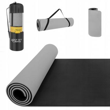 Коврик для йоги (йога-мат) 4FIZJO TPE 4FJ0203, серый