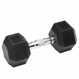 Гантель профессиональная обрезиненная Spart DB6101, 37,5 кг