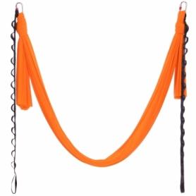 Гамак для йоги ZLT Antigravity Yoga DH6026 оранжевый