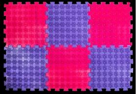Коврик акупунктурный массажный Олви Лотос 6 элементов (OL1270939692)