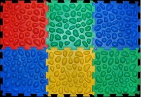 Коврик массажный с эффектом морской гальки Олви Пазлы 6 элементов (OL369179509)