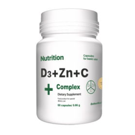 Комплекс витаминов и минералов EntherMeal D3 + Zinc + С Complex+, 60 капсул (ABPR88)