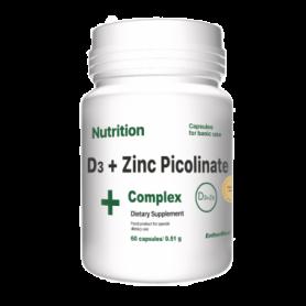 Комплекс витаминов и минералов EntherMeal D3 + Zinc Picolinate Complex+, 60 капсул (ABPR89)