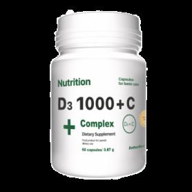 Комплекс витаминов EntherMeal D3 1000+С Complex+, 60 капсул (ABPR90)