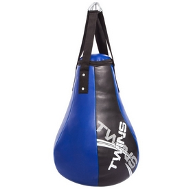 Груша боксерская набивная Каплевидная подвесная Twins (1099), синяя - Фото №2