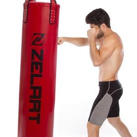 Мешок боксерский PU Zelart (BO-1979) с цепью, h-180см - Фото №2