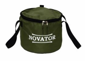 Ведро для прикормки с крышкой Novator (VD-2), 30x23 см