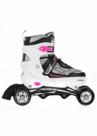 Коньки роликовые SportVida SV-LG0062, белые - Фото №8