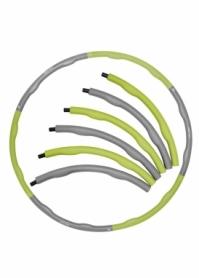 Обруч массажный Hula Hoop SportVida SV-HK0339 - зеленый, 100 см