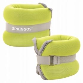Утяжелители-манжеты для ног и рук Springos FA0072, 2 шт по 1,5 кг