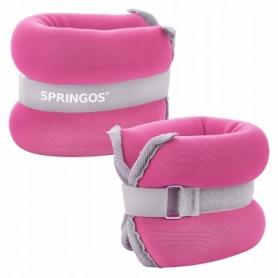 Утяжелители-манжеты для ног и рук Springos FA0070, 2 шт по 0,5 кг