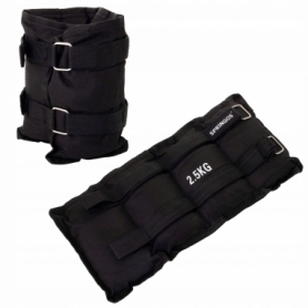Утяжелители-манжеты для ног и рук Springos FA0007, 2 шт по 2,5 кг