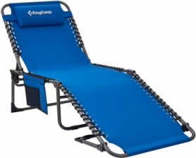 Раскладушка-шезлонг KingCamp Classic Adjustable Cot синяя (KC2019)