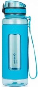 Бутылка для воды KingCamp Silicon Tritan Bottle KA1144 - голубая, 1000 мл
