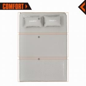 Коврик самонадувающийся Comfort Double II Beige KingCamp KM3594, 70х20 см