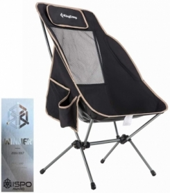 Кресло складное High-backed folding chair Black KingCamp KC3950