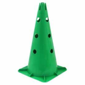 Фишка спортивная конус SportVida SV-HK0305 - зеленый, 40 см