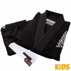 Кимоно детское для бразильского джиу-джитсу Venum Contender 2.0 черное (FP-8695-1)
