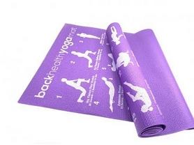 Коврик для фитнеса и йоги с чехлом Newt PVC Back Health NE-4-15-17-V, 173х61х0,6 см
