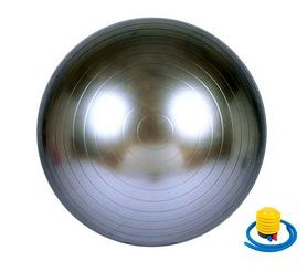 Мяч для фитнеса (фитбол) Newt HMS 487-626-2-G - серый, 75 см