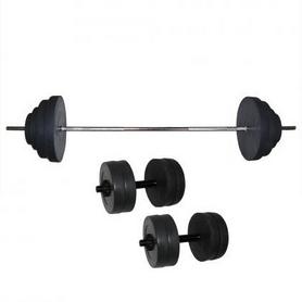 Штанга наборная Newt Rock + две гантели Newt Rock NE-KS-180-192, 92 кг + 2 гантели по 10 кг