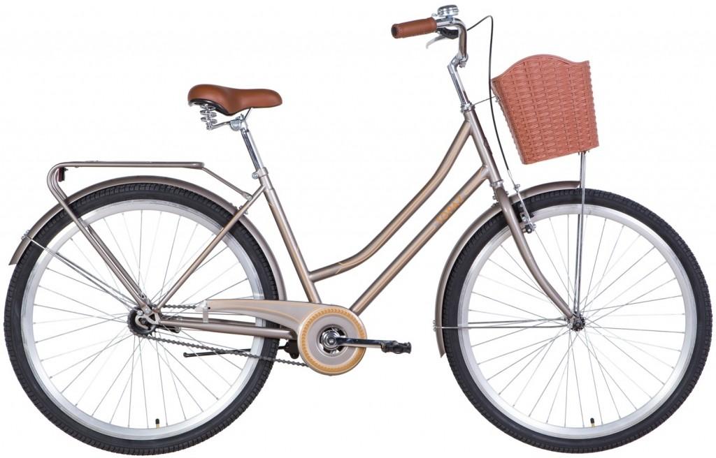 """Велосипед городской Dorozhnik Topaz 28"""" коричневый, рама - 19"""" (OPS-D-28-236)"""