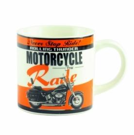 """Чашка керамическая G.Wurm """"Motorbike Desing Assorted"""" оранжевая, 320 мл (10024195-1)"""