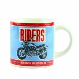 """Чашка керамическая G.Wurm """"Motorbike Desing Assorted"""" голубая, 320 мл (10024195-3)"""