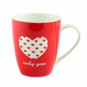 """Чашка фарфоровая G.Wurm """"Only you"""" красная, 270 мл (12763-1)"""