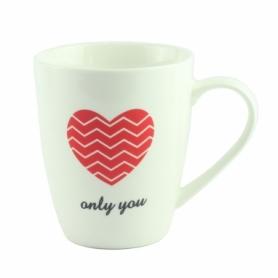 "Чашка фарфоровая G.Wurm ""Only you"" белая, 270 мл (12763-2)"