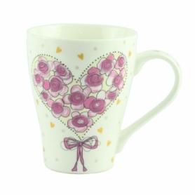 """Чашка фарфоровая G.Wurm """"Сердце с роз"""", 270 мл (20406-3)"""