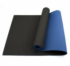 Коврик (мат) для йоги и фитнеса SportСraft TPE синий, 183х61х0,6 см (ES0019)