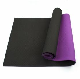 Коврик (мат) для йоги и фитнеса SportСraft TPE фиолетовый, 183х61х0,6 см (ES0020)