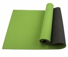 Коврик (мат) для йоги и фитнеса SportСraft TPE чёрный, 183х61х0,6 см (ES0021)