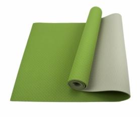 Коврик (мат) для йоги и фитнеса SportСraft TPE серый, 183х61х0,6 см (ES0022)