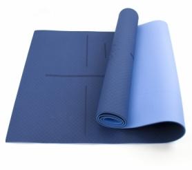 Коврик (мат) для йоги и фитнеса SportСraft TPE голубой, 183х61х0,6 см (ES0023)