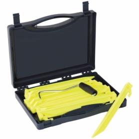 Колышки Outwell Guyline Peg Box Luminous Green, 14 шт по 22 см (928776)