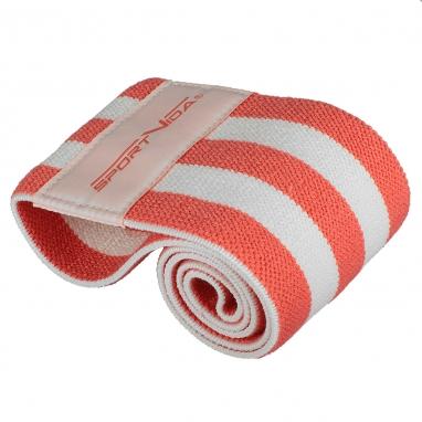 Резинка для фитнеса тканевая SportVida Hip Band красная, М (SV-HK0252)