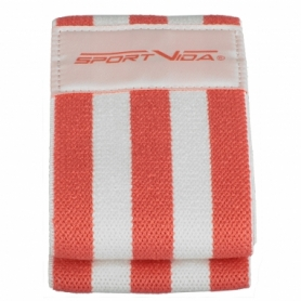 Резинка для фитнеса тканевая SportVida Hip Band красная, М (SV-HK0252) - Фото №4