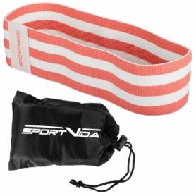 Резинка для фитнеса тканевая SportVida Hip Band красная, М (SV-HK0252) - Фото №9