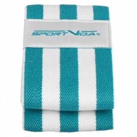 Резинка для фитнеса тканевая SportVida Hip Band голубая, L (SV-HK0253) - Фото №5